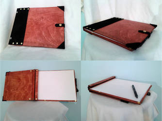 Wooden bound Sketchbook Prototype by RawringCrafts