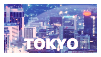Tokyo stamp by SheviEdge
