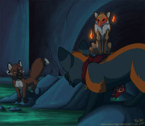 Fire Foxes by KaiserTiger