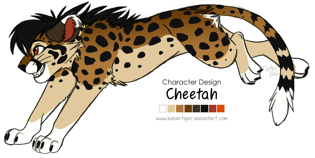Character design: Cheetah by KaiserTiger