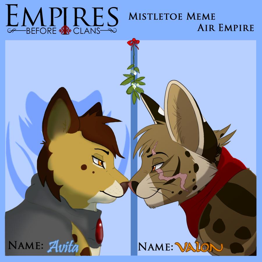 EBC: Mistletoe Meme-Valon by KaiserTiger