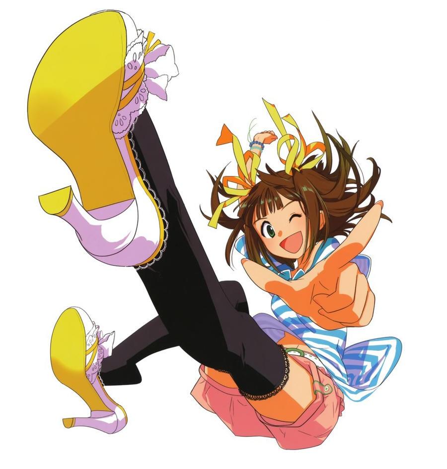 Anime Girl Falling Backwards - Fan Animation
