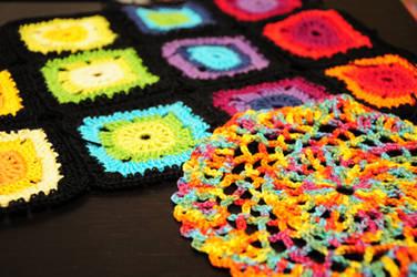 Some crochet works in progress... by nimuae