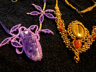 Some more macrame necklaces