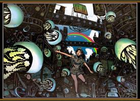 Jellyfish and Rainbow by kyan-dog