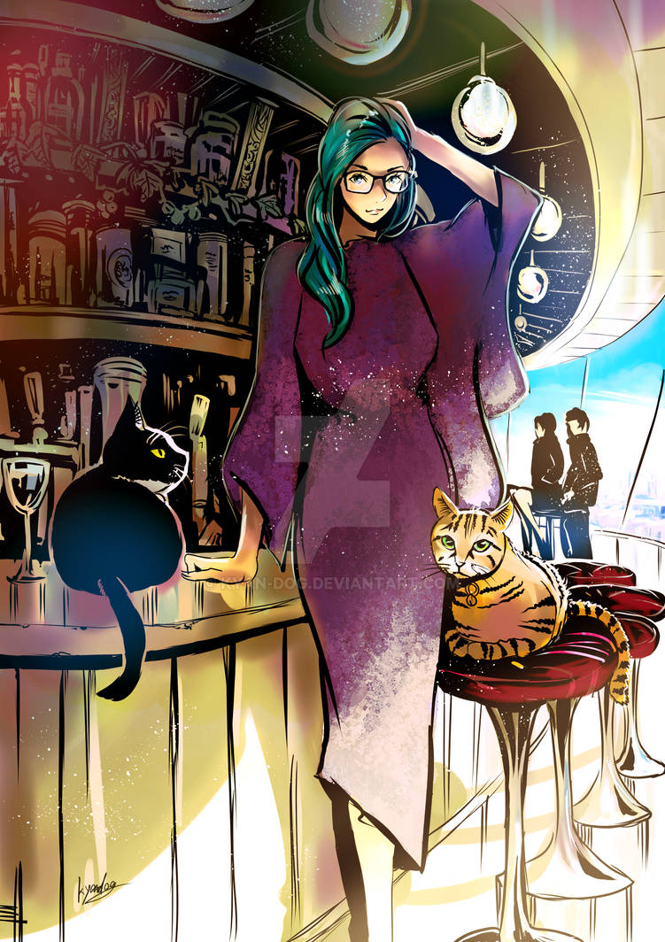 the lady with cats