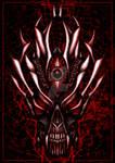 Bloody demon skull