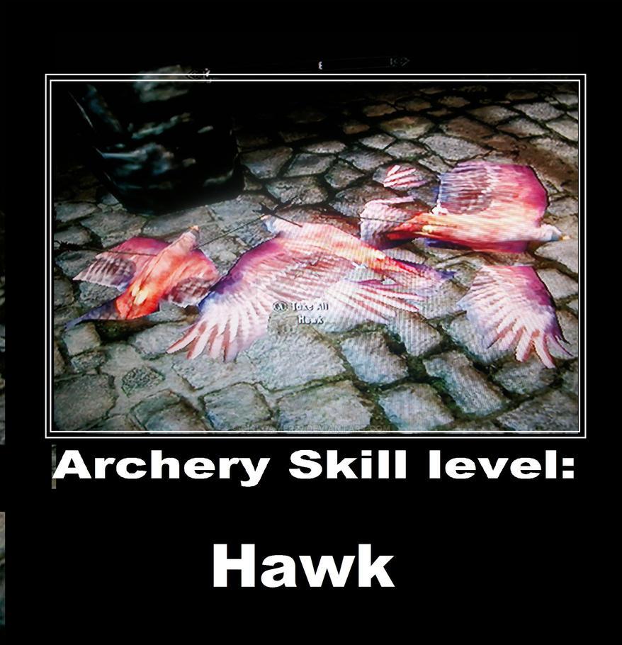 Archery Skill Level: Hawk (Skyrim) By Girlgamer27 On