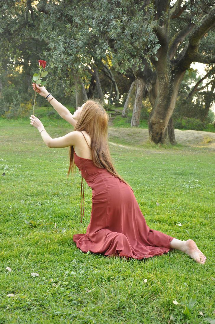 Crimson Rose IX by KahinaSpirit