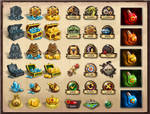 Icons for 'Kingdom of Heroes'