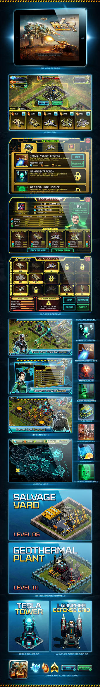 War Inc. GUI and 3D Works by nasar-ullah-khan
