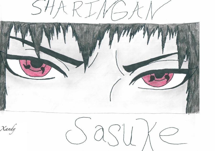how to draw sasuke uchiha
