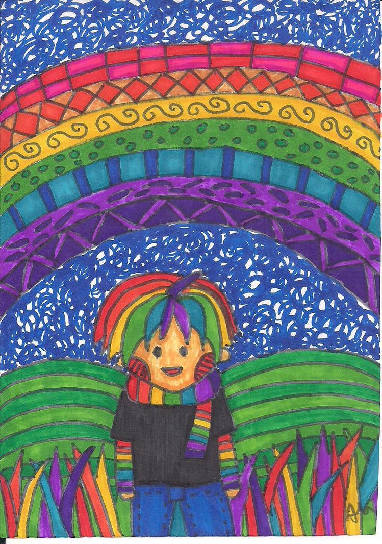 Rainbow boy in Rainbowland by sandra1328