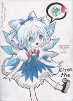 Cirno the 9 - Fanart