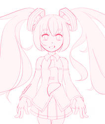 Miku (Sketch) by calponpon