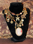 Double Strand Victorian/ Steampunk Necklace