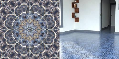 Shadowhawks Water Flower Floor Tile
