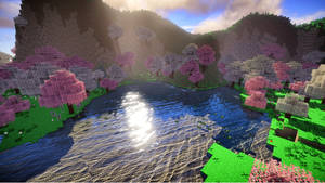 Minecraft Wallpaper Cherry Blossom Dream By Shadowhawk9973 On Deviantart