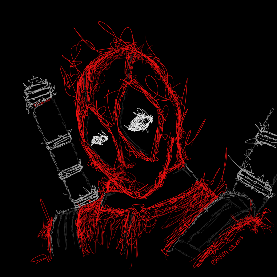 Scribble Drawing Artists : Deadpool scribble art by eliaim on deviantart