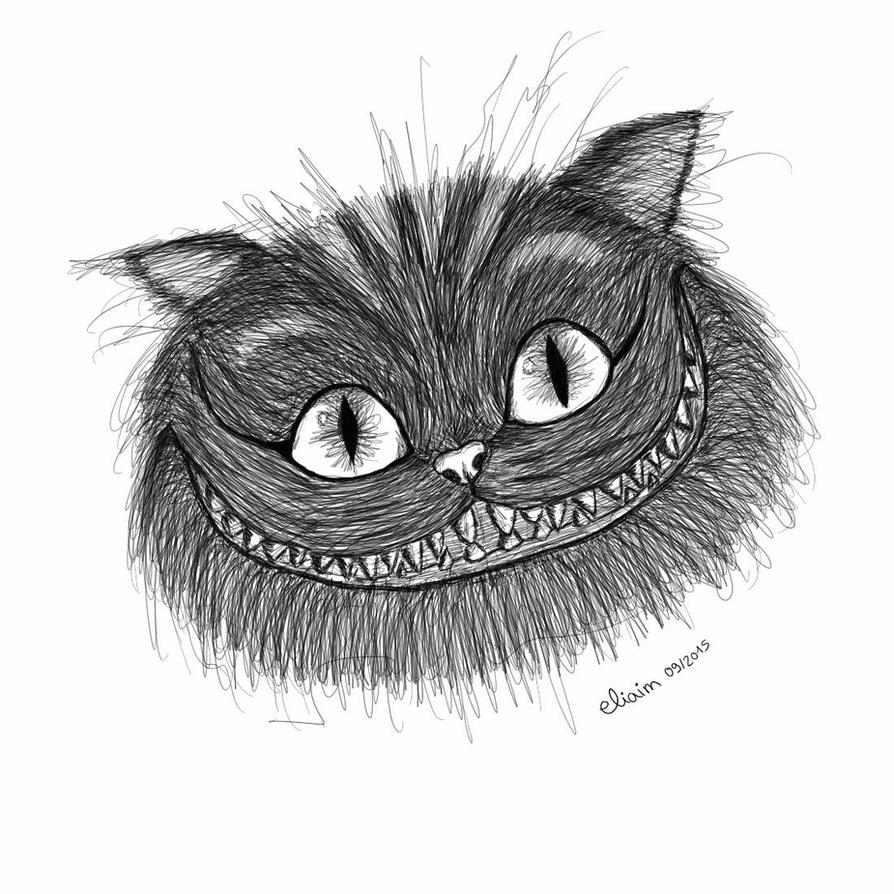 Scribble Drawing Artists : Cheshire cat scribble art by eliaim on deviantart