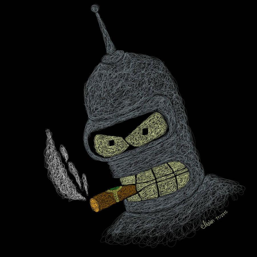 Bender  -scribble art- by eliaim