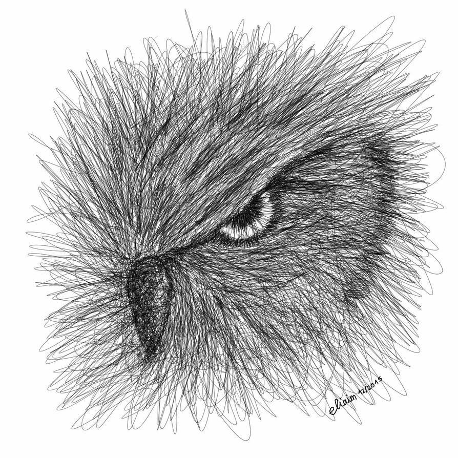 Scribble Drawing Artists : Owl scribble art by eliaim on deviantart