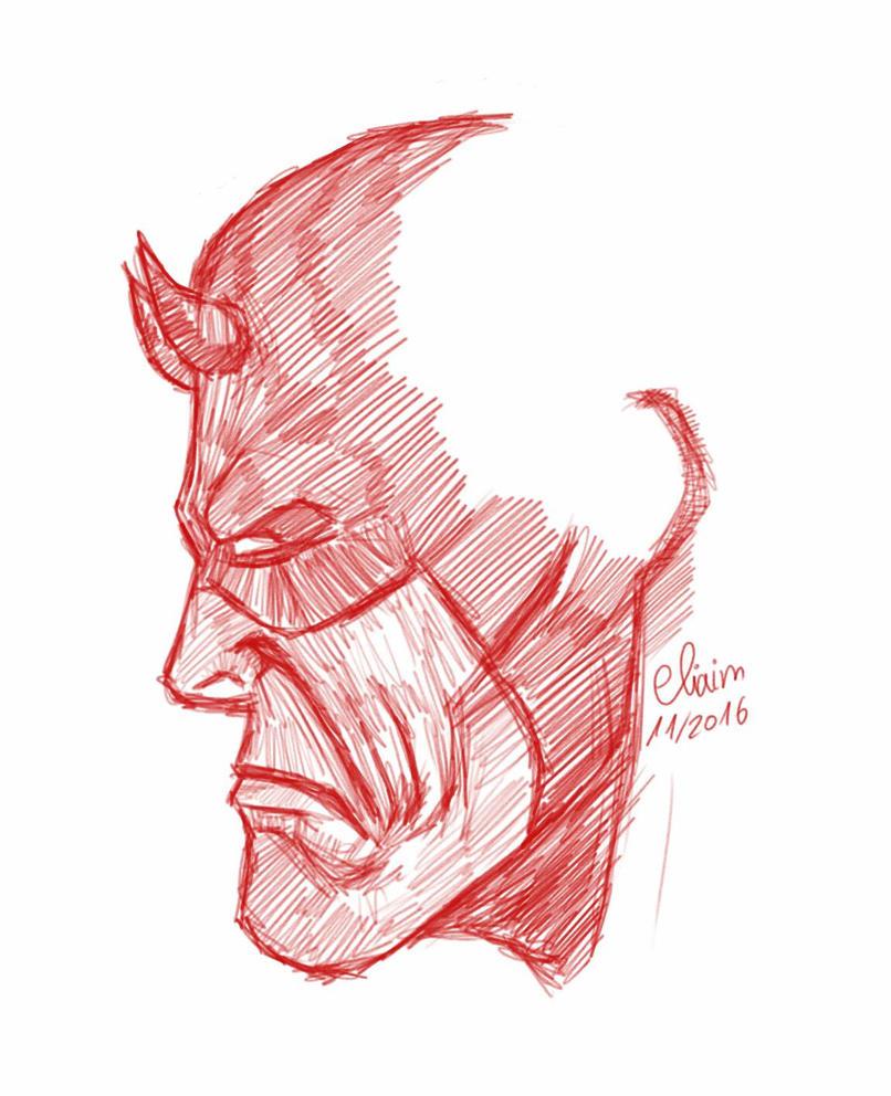 Daredevil sketch by eliaim