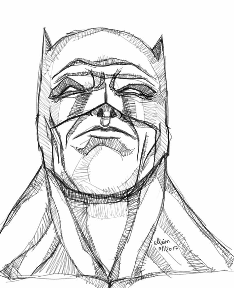 The Dark Knight Returns sketch by eliaim