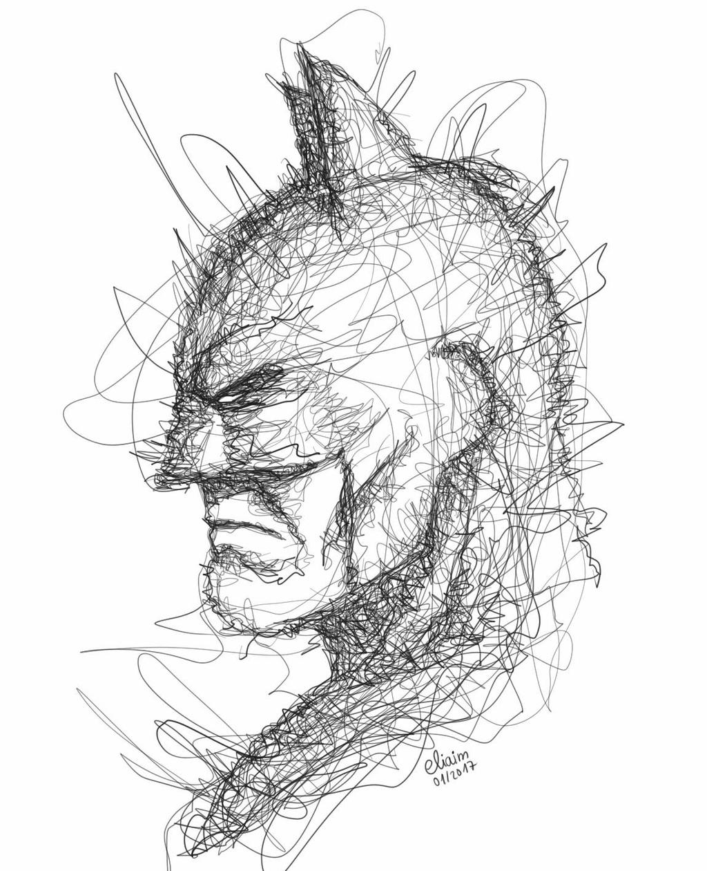 Drawing Of Scribbles : Batman scribble art by eliaim on deviantart
