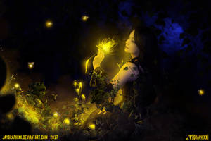 Garden Of The Golden Rose by JayGraphixx
