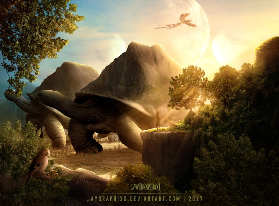 Planet Of The Tortoises by JayGraphixx