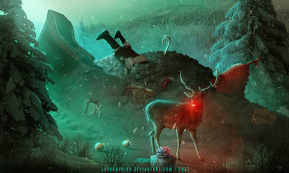 Rudolph Came Late by JayGraphixx