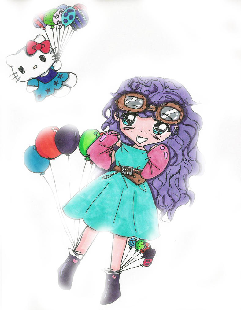 pastel hello kitty Anime by bunnyluvable