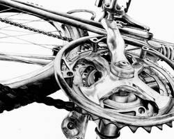 RISD Bike Drawing by 4lackofnethingbetter