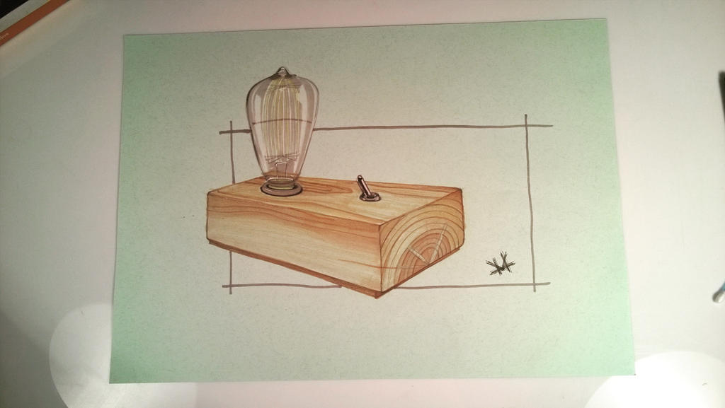 Lamp sketch (tutorial video) by marinsilveira