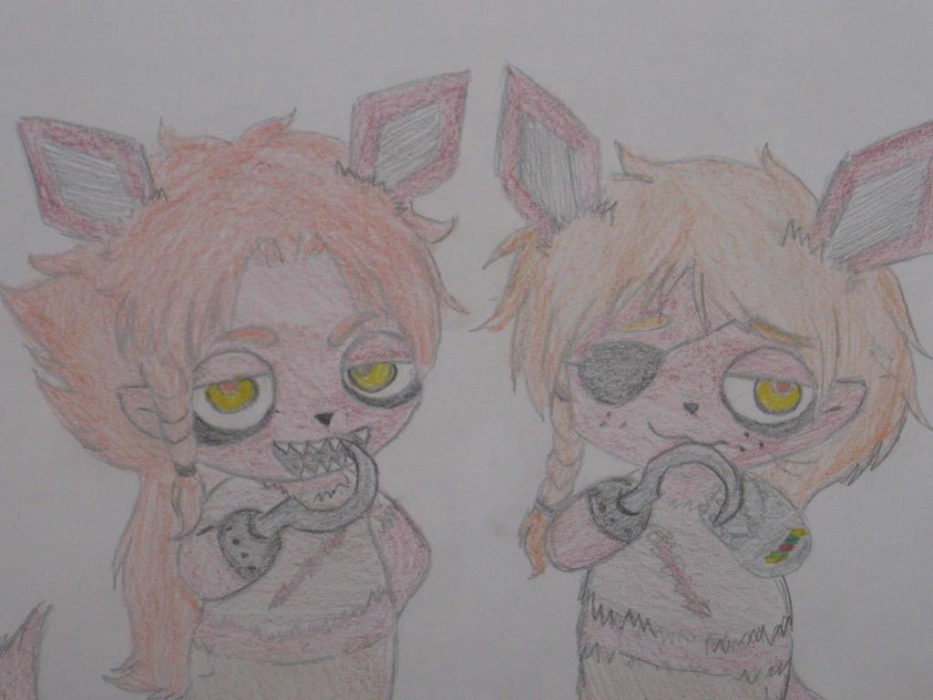 Chibi!FOXY!Scotland and Chibi!FOXY!2p!Scotland by Una-oneechan19