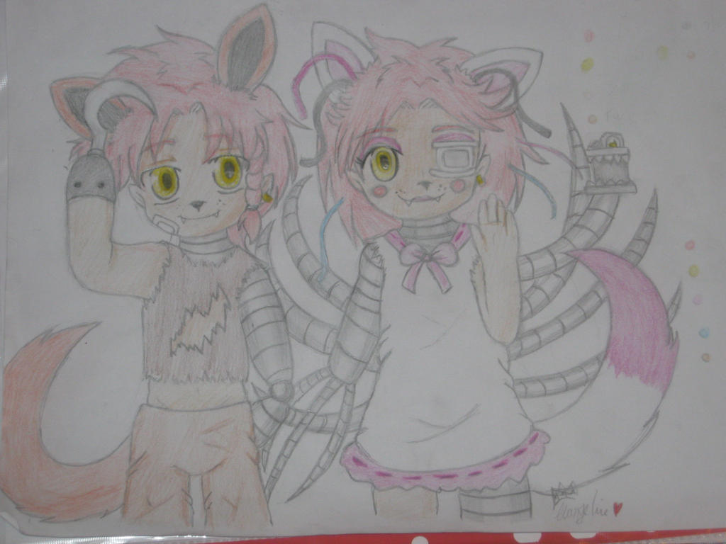 Foxy!Scotty and Mangle!Scarlett by Una-oneechan19