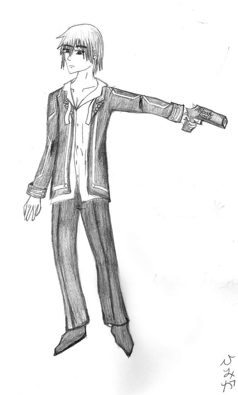 Zero with gun by himika93