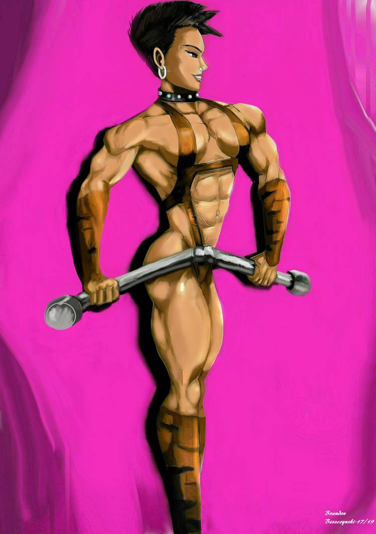 Mikiko Tora- Sexy Strongwoman Performer by BrandonB-80