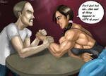 Arm Wrestling with Ravishing Rebecca
