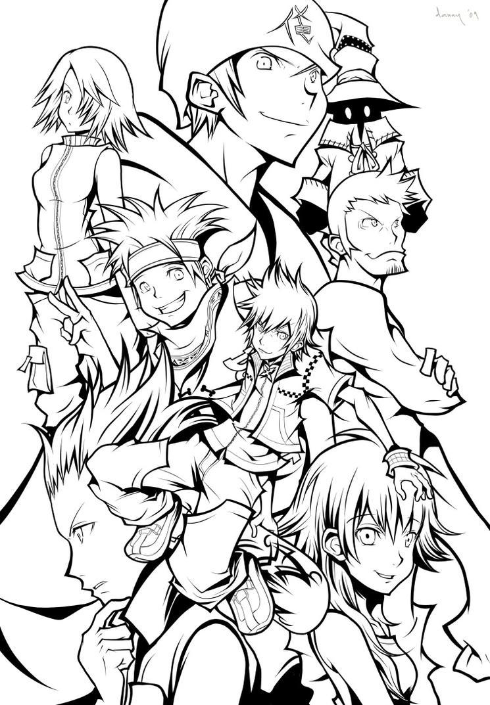Sora Kingdom Hearts Lineart : Kh twilight lineart by daniwae on deviantart