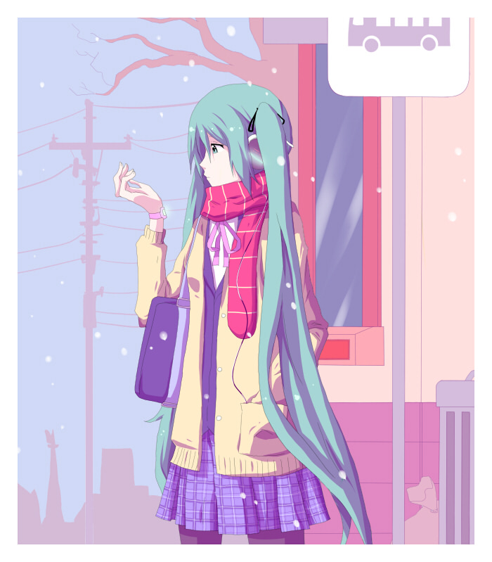 Winter Miku by daniwae