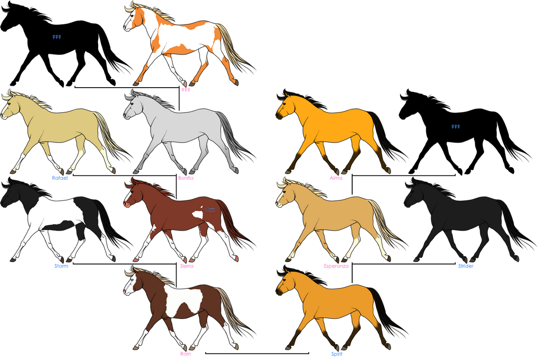 Spirit Stallion Of The Cimarron Family Tree