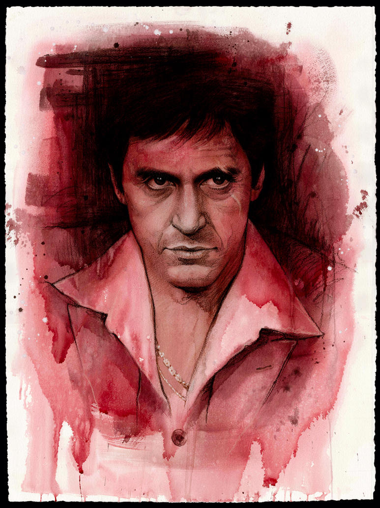 Al Pacino as Tony Montana by JW-Jeong