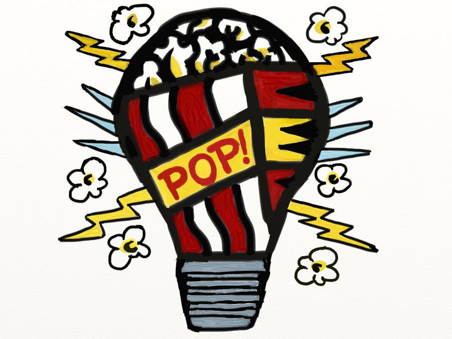 Pop Art- Pop Corn Light Bulb by SilverBubble98