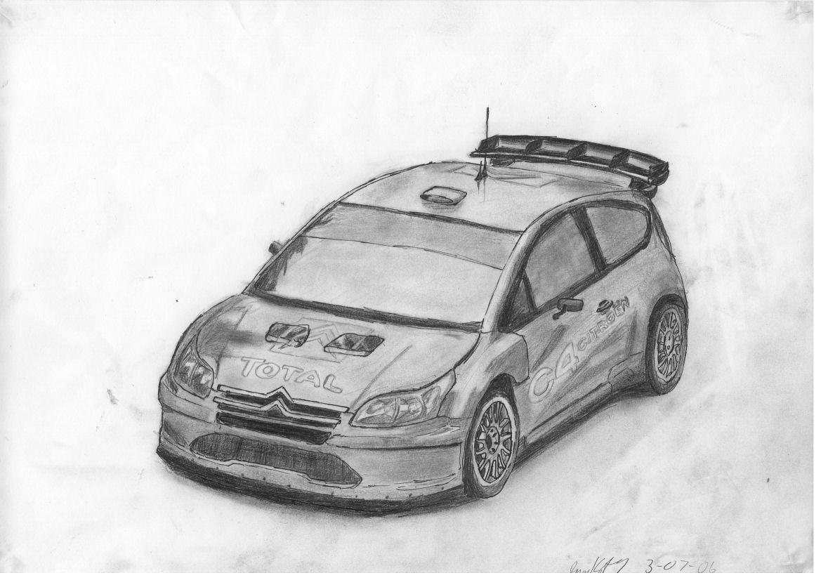 Rally car outline drawing 18