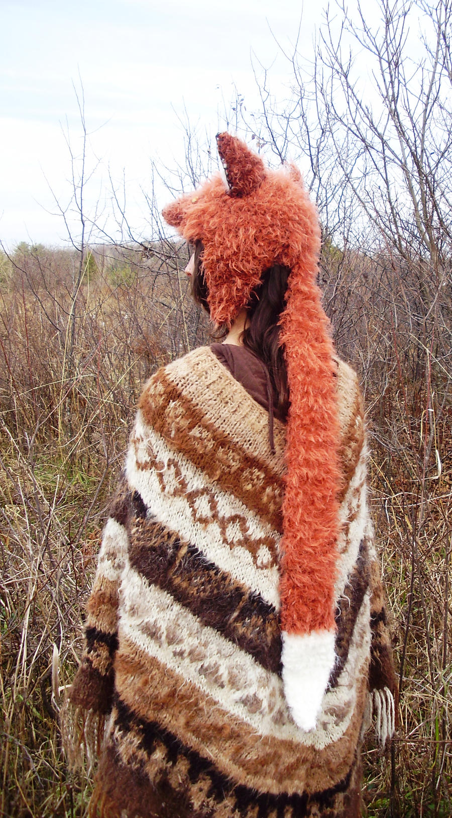 back of fox hat - unfinished by TinaTrineer