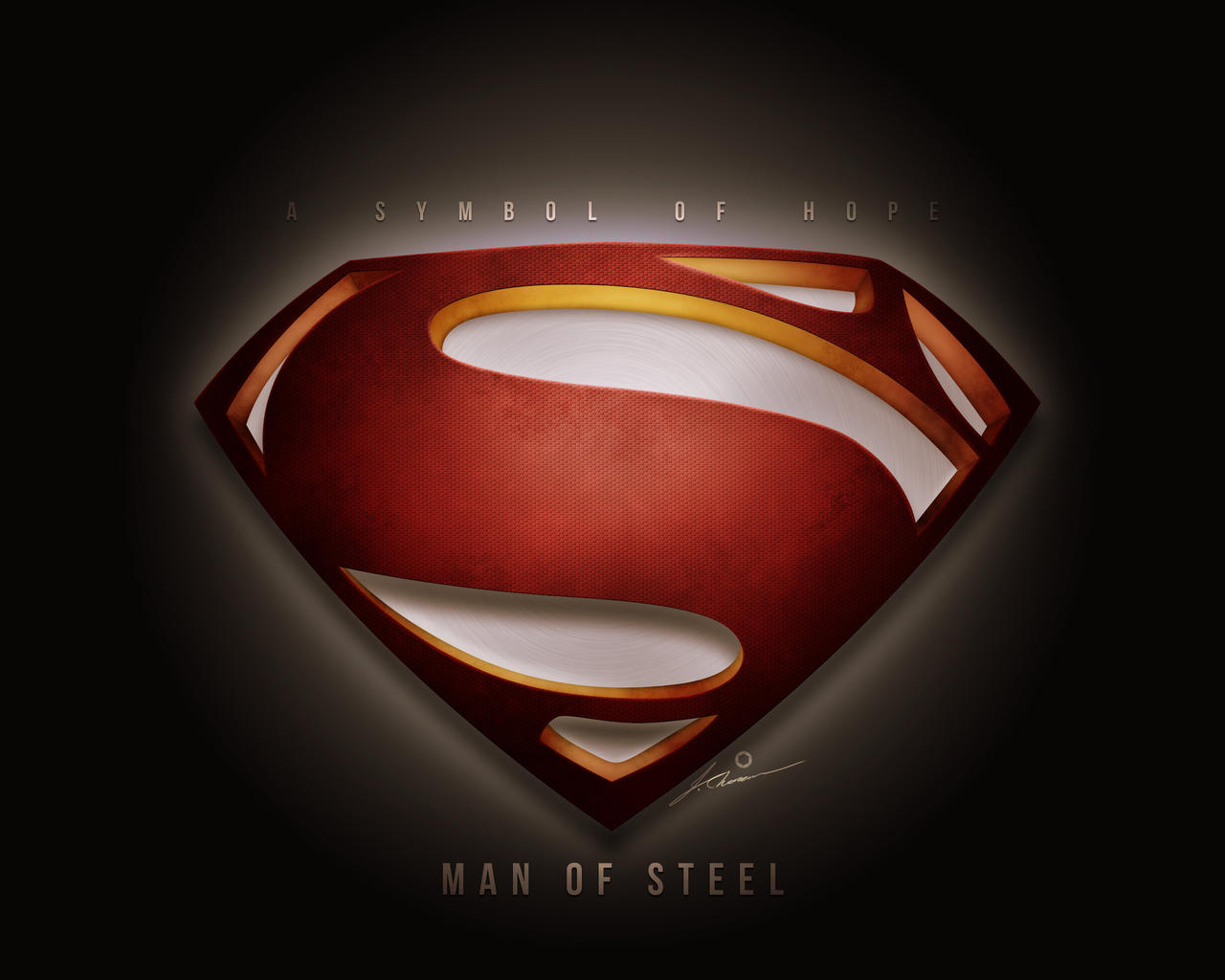 a symbol of hope man of steel fan poster by imagesix on