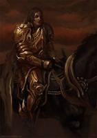 golden knight by GregTaylorArt
