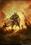 knight slashing